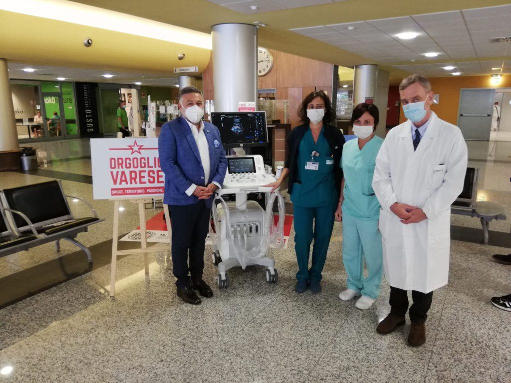 donazione ecografo ospedale circolo varese_prof grossi_circolo della bontà_emergenza coronavirus_rosario rasizza