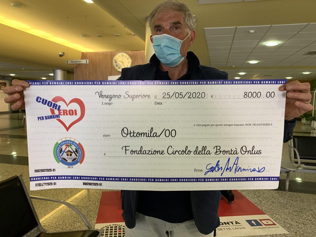 Circolo della Bontà_Cuori Eroi_donazione ospedale varese_8000 euro_nida onlus_coronavirus_asst settelaghi_covid 19