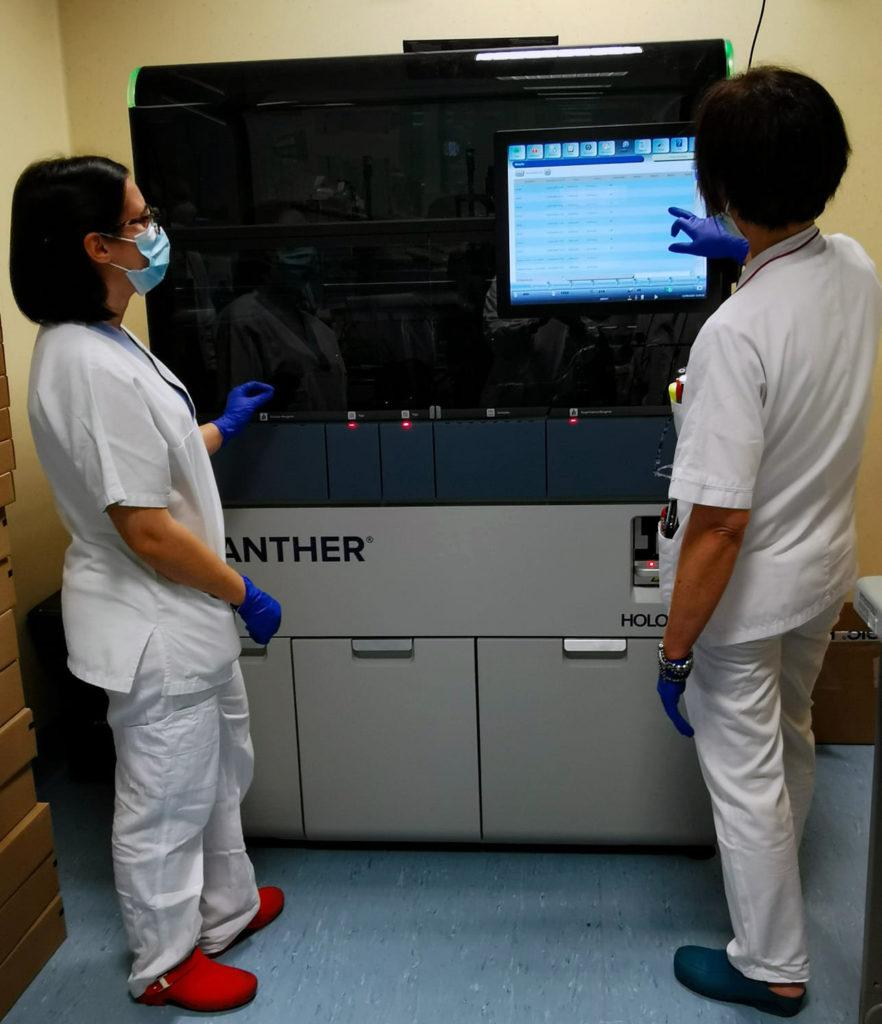 Panther_Hologic_analisi tamponi covid 19 varese_tamponi bambini varese_donazioni ospedale di circolo_raccolta fondi coronavirus